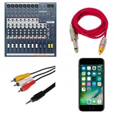 iPhone: запись с внешнего источника (микшерский пульт, внешний микрофон)